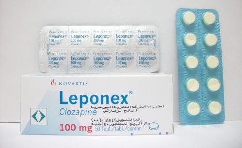ليبونكس أقراص مضاد للذهان وإنفصام الشخصية Leponex Tablets