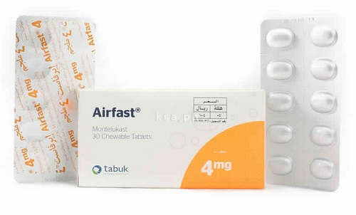 إيرفاست أقراص لعلاج نوبات الربو وأعراض حساسية الصدر Airfast Tablets
