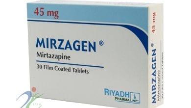 ميرزاجن أقراص مضاد للأكتئاب ولعلاج الأرق والتوتر Mirzagen Tablets