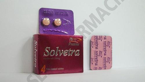 سولفيترا أقراص لعلاج ضعف الانتصاب لدى الرجالSolvetra Tablets
