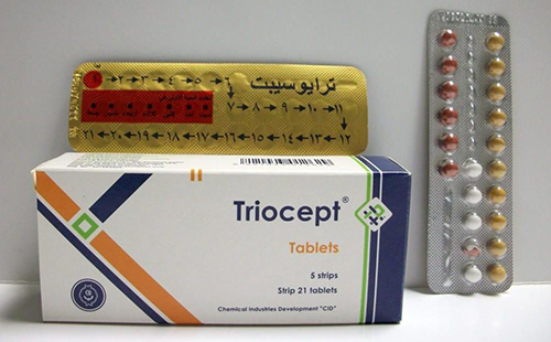 ترايوسيبت أقراصلمنع الحمل ونزول الدورة الشهرية Triocept Tablets