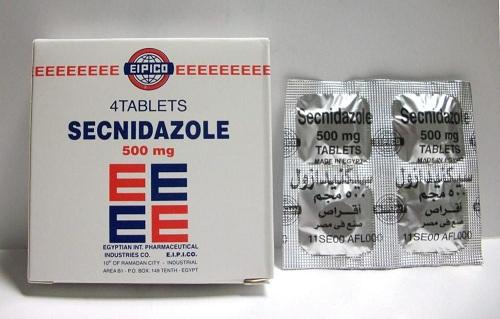 النشرة الداخلية لدواء SECNIDAZOLE 500 MG 4 TAB.