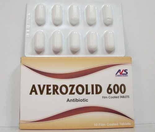 افيروزوليد برشام AVEROZOLID 600 MG 10 TAB.